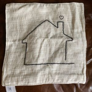 Pottery Barn Home Pillow Cover | Embroidered | NEW